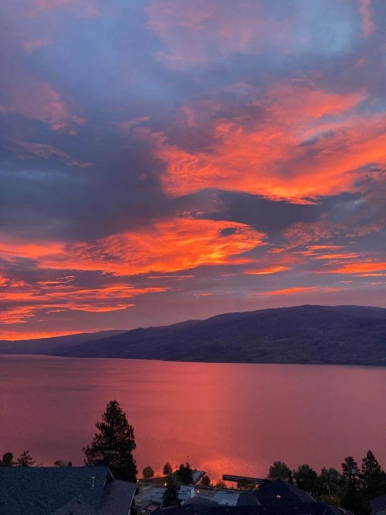 Sunrise on Lake Okanagan