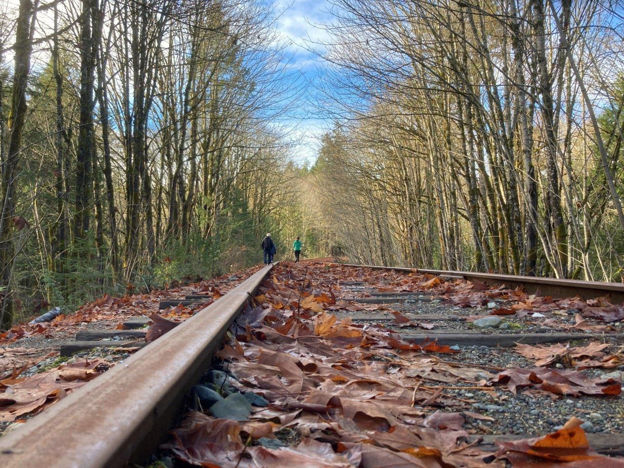 Railway tracks in Ladysmith, British Columbia