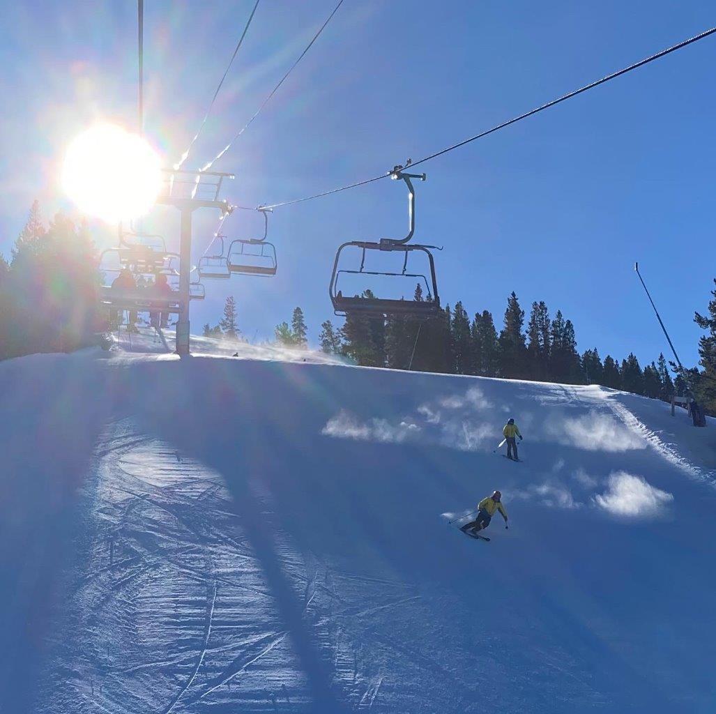 Skiers at Panorama Resort