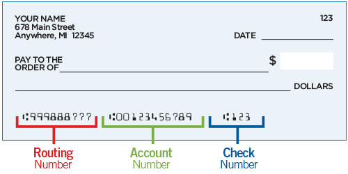 Check Aba Number And Account Number