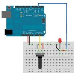 Led Pot Light Wiring Diagram Wall Switch Potentiometer To Servo Position Sensor
