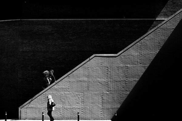 Street Photo - Climbing The Light