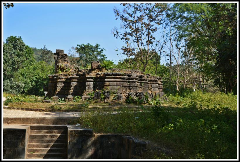 Ancient temples ruins in Polo forest