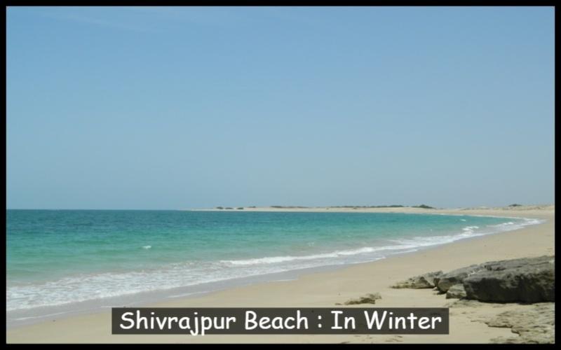 Shivrajpur Beach In winter