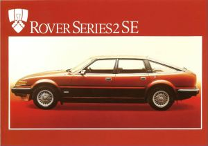 Rover 3500 SE Brochure Cover March 1983