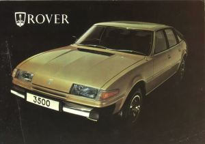 Rover 3500 SD1 Brochure Cover July 1977