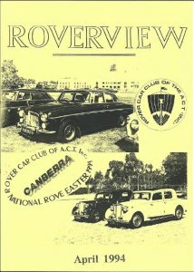 Roverview April 1994 Cover