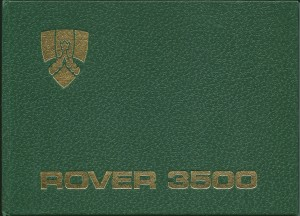 DSC_0001 Rover 3500 SD1 NAS Owners Handbook Cover