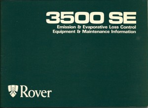 DSC_0005 1981 Rover 3500 SE Fuel Injection Owners Handbook Supplement Front Cover