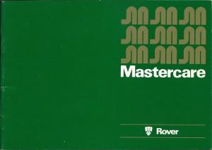 DSC_0008 1985 Rover 3500 SE & Vanden Plas Mastercare Handbook Front Cover