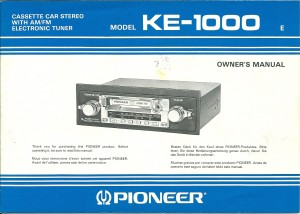 SD1 radio Pioneer KE-1000