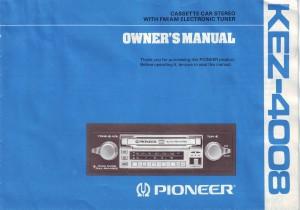 SD1 radio Pioneer KEZ4008