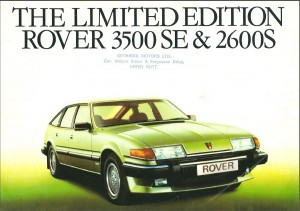 Rover 3500SE & 2600S New Zealand Brochure Cover