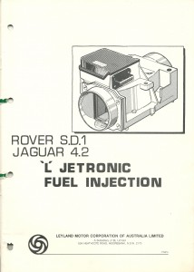 DSC_0105 Rover SD1 Jaguar 4.2 L Jetronic Fuel Injection Manual 1981 Leyland Australia TP967A