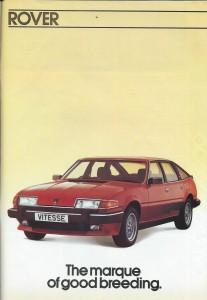 DSC_0002 Rover 2000 2300 2400SD 2600 3500 VDP Vitesse Brochure 1-1984