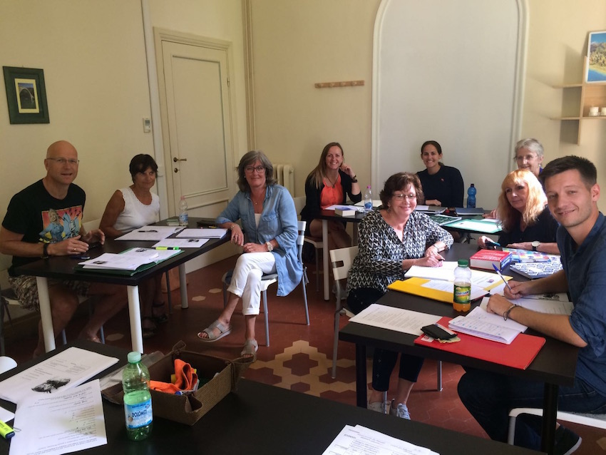 My classmates at the Lucca Italian School