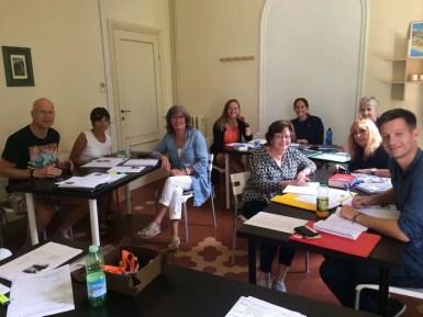 My classmates at the Lucca Italian School