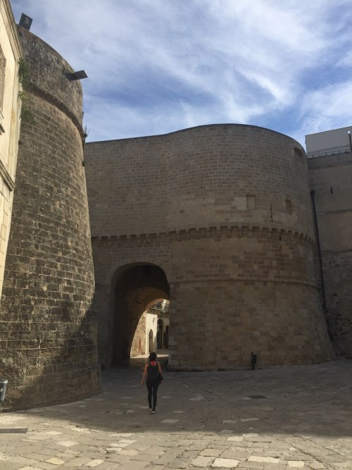 The huge walls of Otranto's old town centre