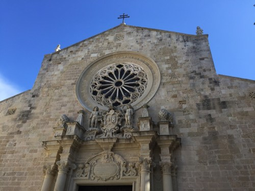 The facade of the Otranto Cathedral