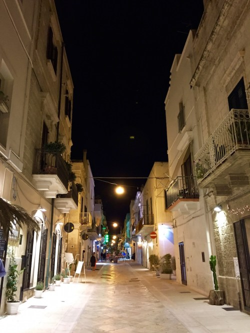 Polignano a Mare's centro storico at night