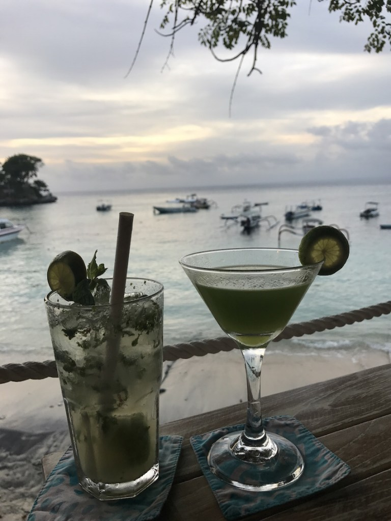 Sunset drinks at the Hai Bar and Grill on Mushroom Beach