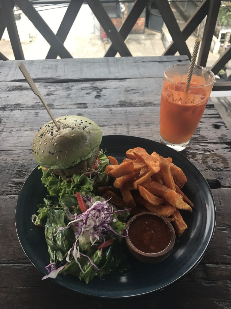 Peloton Veggie Burger at Peloton Bike Shop in Canggu