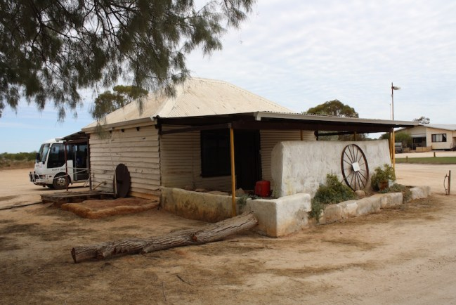 Shanty in the middle of nowhere near Hamelin Pool