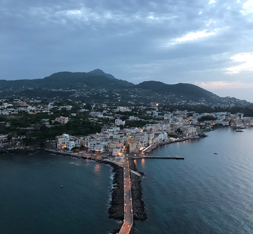 View of Ischia Ponte from the terrace of castello aragonese