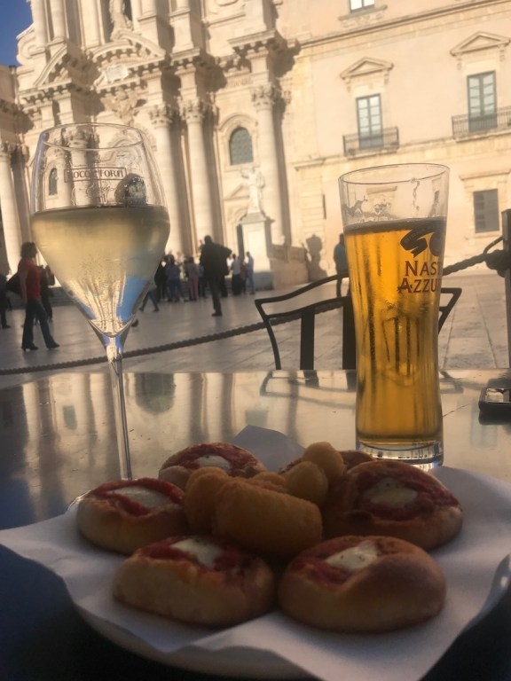 drinks in the piazza
