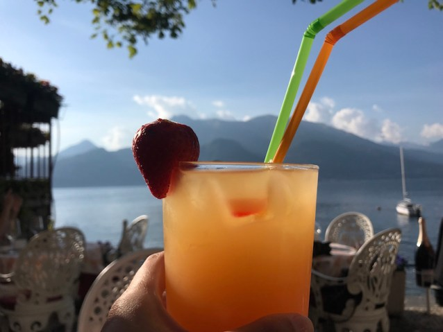 Cocktails in Lake Como