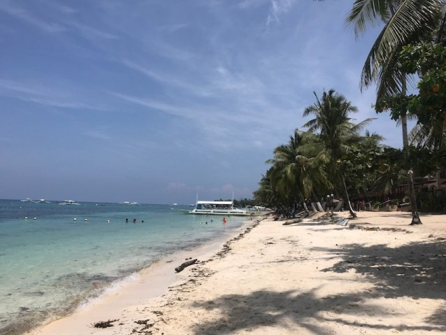 Early morning in Alona Beach. A must-see if you're spending three days in Panglao