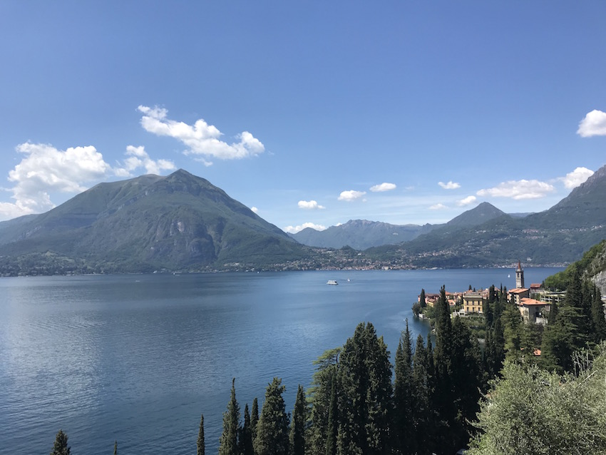 The view along the walk to the castle. Something that should not be missed if you have four days in Varenna.