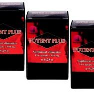 Pachet Promotional : 3 x Potent Plus, 15 capsule + Durex Extra Safe Gratuit