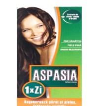 Aspasia este un supliment alimentar care favorizeaza regenerarea parului, intarirea unghiilor si mentinerea unui aspect sanatos al pielii, prin actiunea data de compozitia sa complexa.