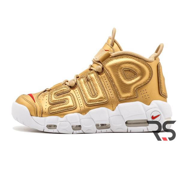 Кроссовки Nike Air More Uptempo Supreme «Gold»