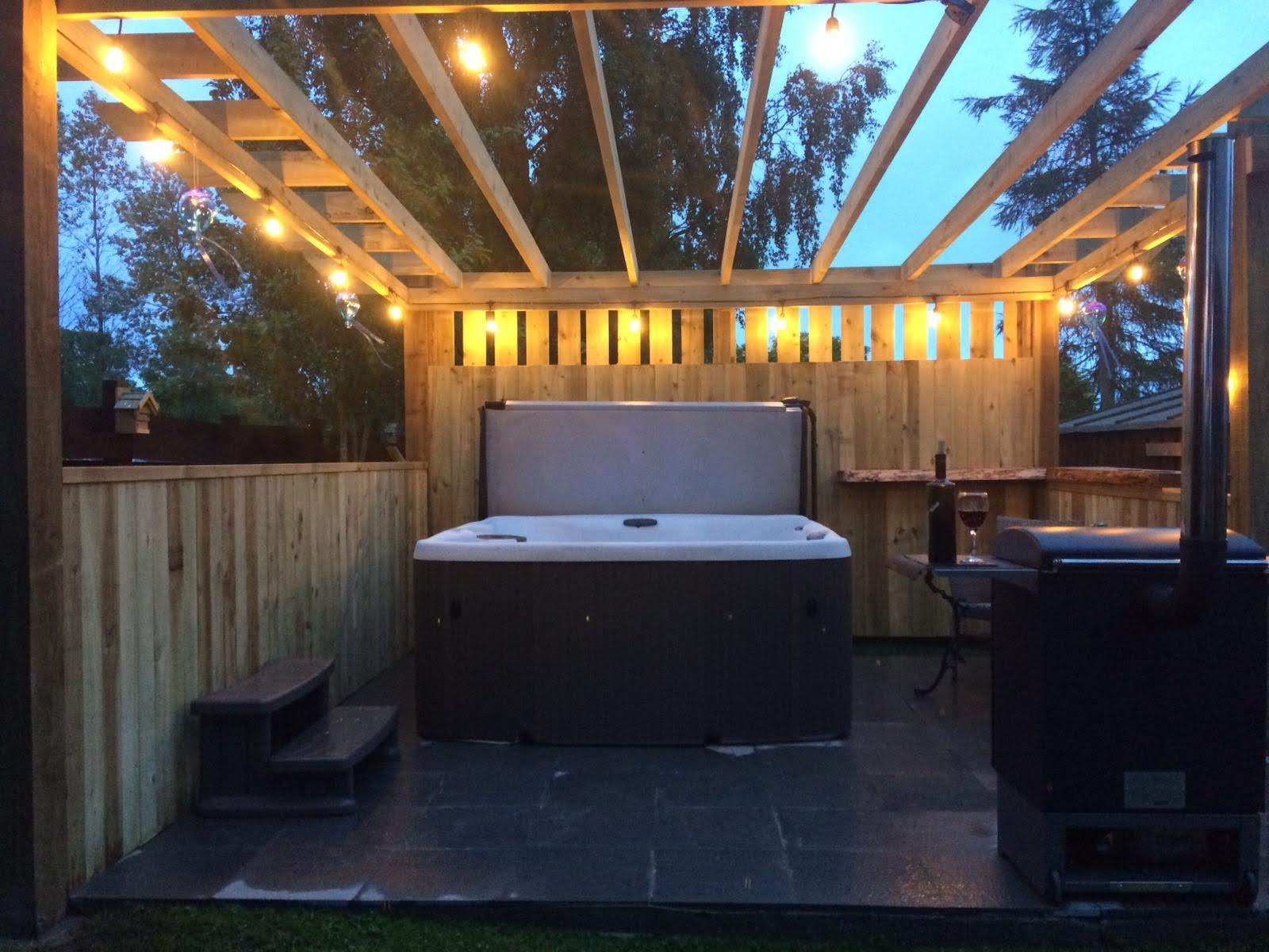 Hot tub and BBQ Area