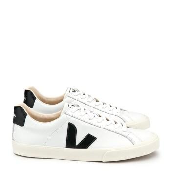 3fcba83891636 Veja Esplar Low Leather Extra White Black Men s