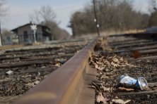 Beer Can on the RR Tracks