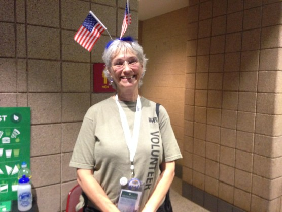 """I'm more than happy to be patriotic."" -This DNC volunteer"