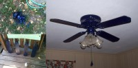 spray painted ceiling fan