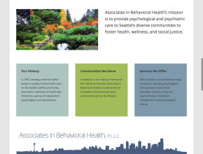 Associates in Behavioral Health P.L.L.C. Healthy individuals relationships and community