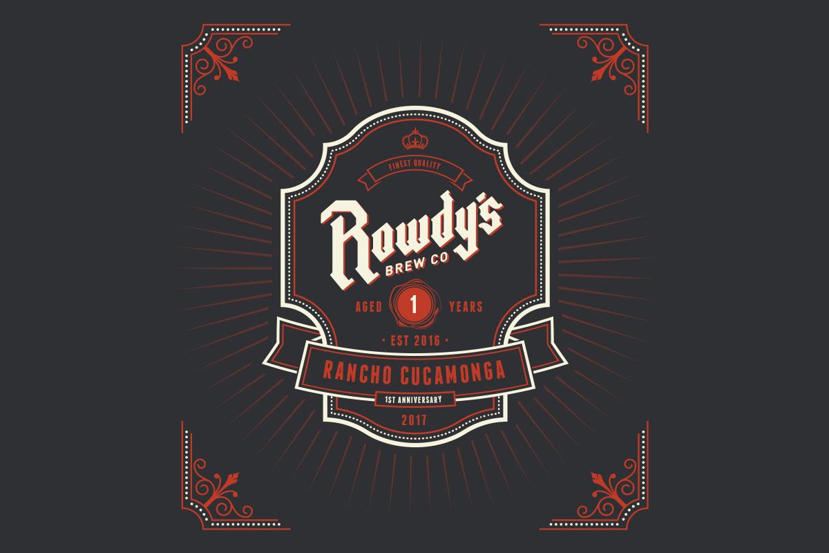 Year anniversary u rowdy s brew co