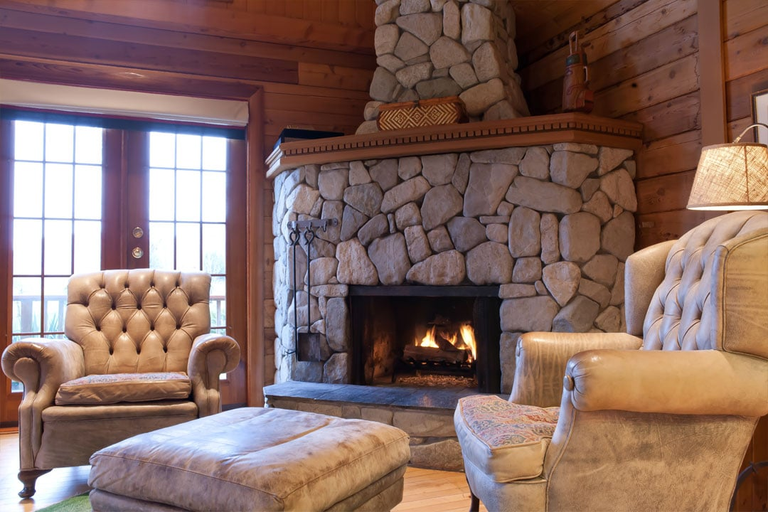 cabin-fireplace