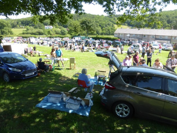 Car boot sale at Rowen. Reduce your waste
