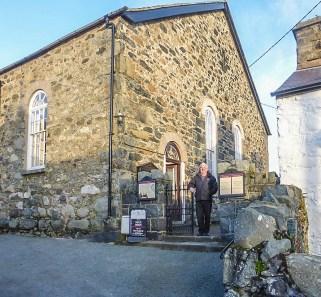 Ken Hughes at Seion Chapel, Rowen