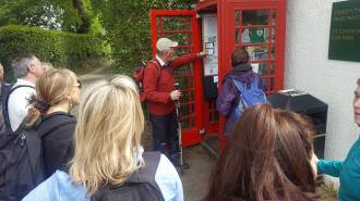 Telephone kiosk information point