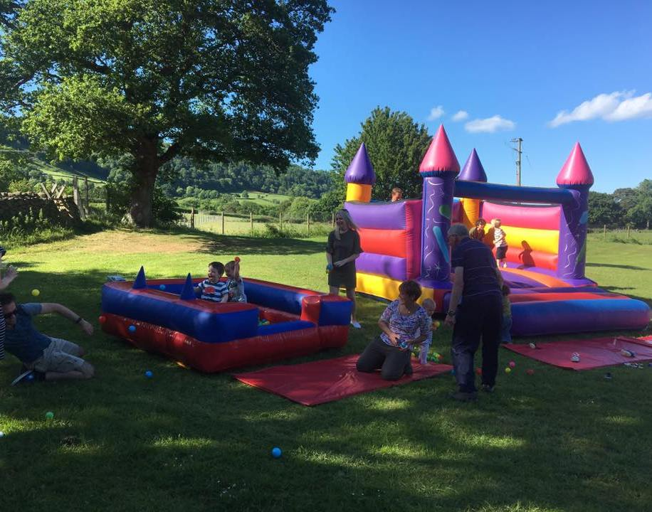 Bouncy castle on the Playing Field. Picture used with permission
