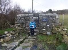 St. Bueno's Well at Clynnog Fawr, during our 2018 Llyn Coast Path walk