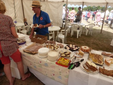 Tea and cakes tent