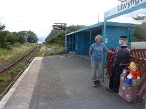 Waiting at Llwyngwril Station for a train back to Llanaber